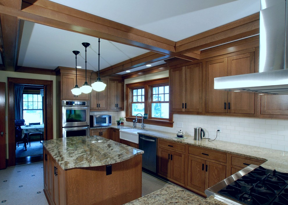 Refacing Cabinets Kitchen Craftsman with Beam Ceilings Beams Coffered Ceiling Craftsman Kitchen
