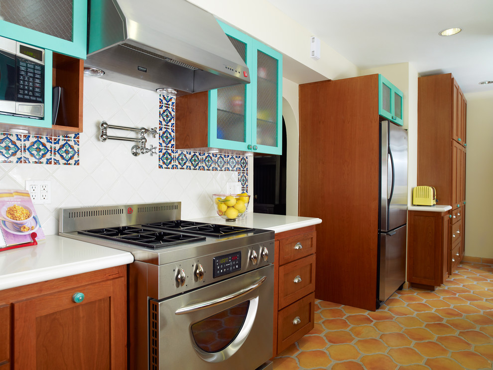 Refacing Cabinets Kitchen Mediterranean with Ceiling Lighting Pot Filler Recessed Lighting Spanish