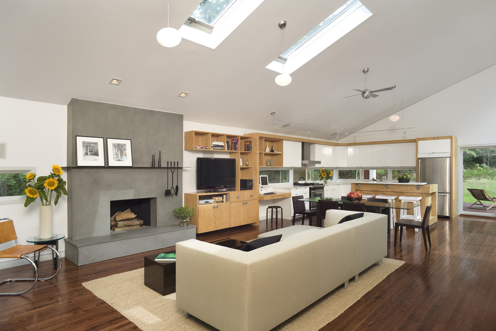 Refacing Kitchen Cabinets Kitchen Contemporary with Media Cabinet Modern Chair Modern Fireplace Open