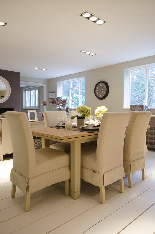 Refectory Table Dining Room Traditional with Beige Dining Chair Fabric Dining Chairs Linen