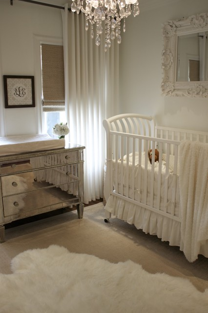 Refinished Furniture Nursery Traditional with Changing Table Chest of Drawers Crib Crib Bedding Curtains