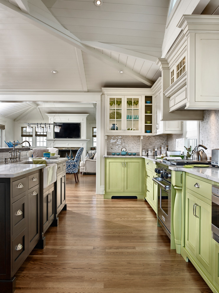 Repainting Kitchen Cabinets Kitchen Contemporary with Apple Green Apron Front Sink Bin Pulls