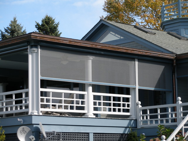 Retractable Screens Porch Contemporary with Building Aesthetics Clear View Ventilation Covered Outdoor Spaces Custom1