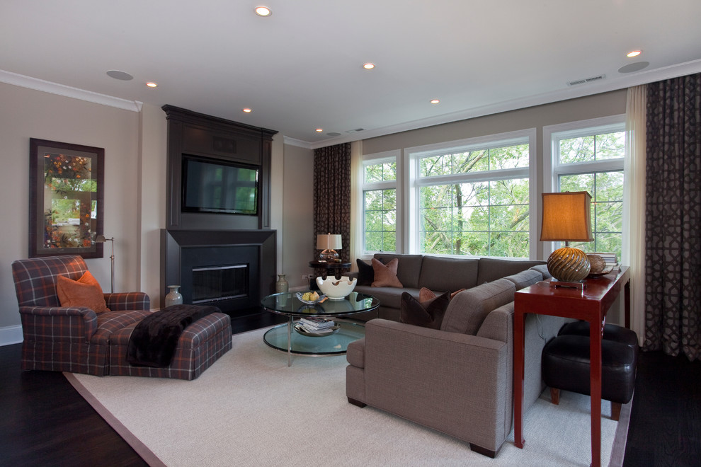 Ripplefold Drapery Living Room Traditional with Area Rug Ceiling Lighting Crown Molding Curtains