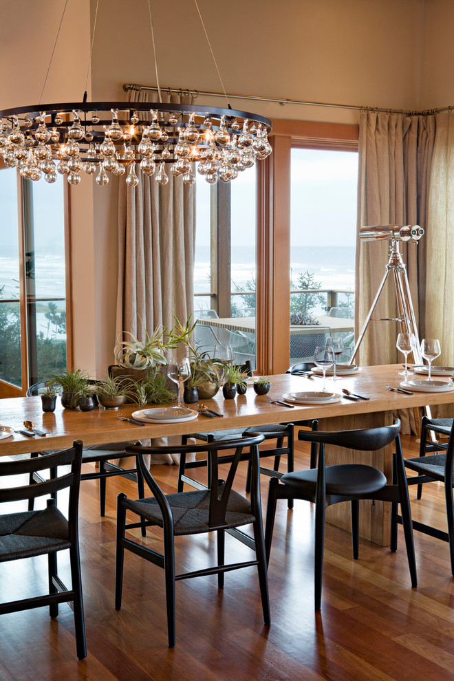 Robert Abbey Bling Chandelier Dining Room Contemporary with Arctic Pear Beach House Blacony Elbow Chair