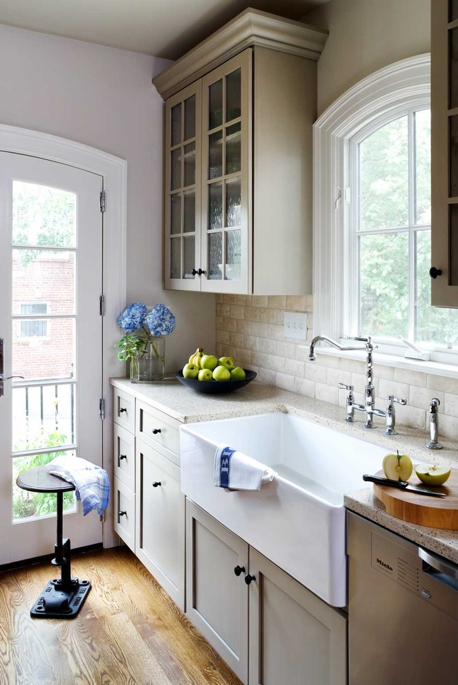 Rohl Sinks Kitchen Traditional with Arched Door Arched Window Chrome Faucet Cottage