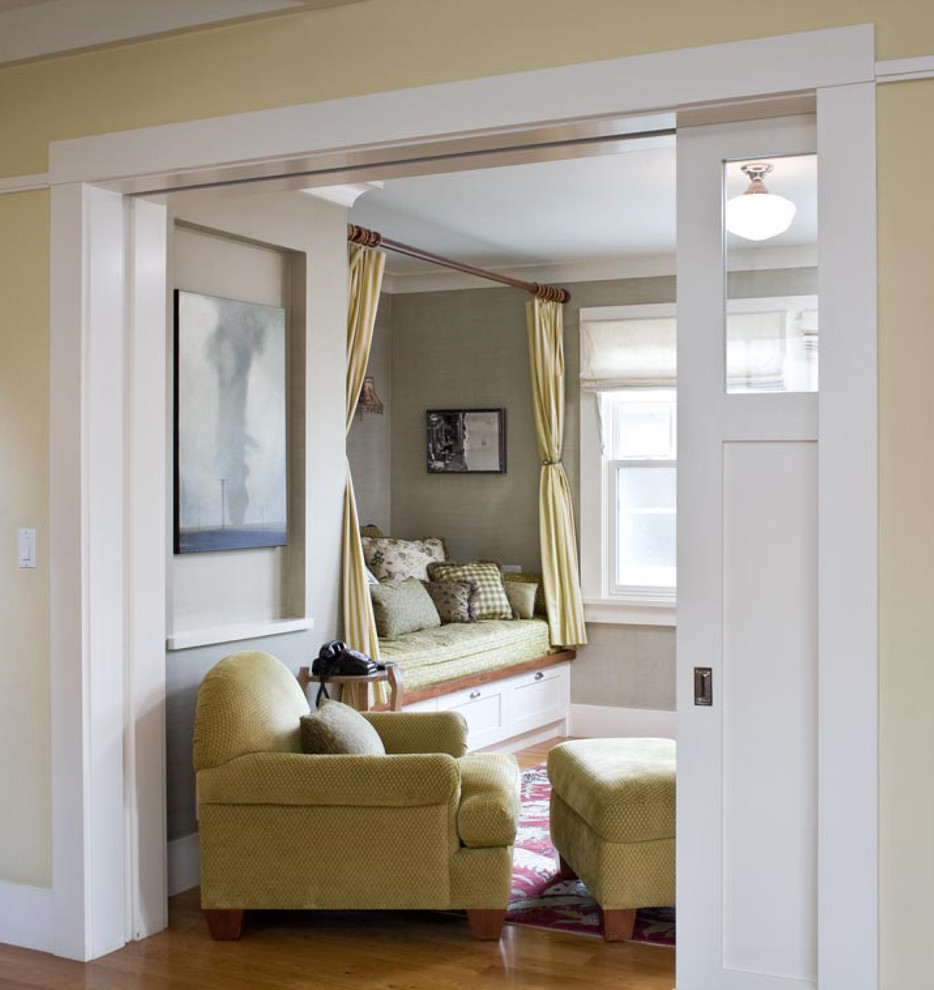 Room Divider Curtains Living Room Traditional with Alcove Built in Seating Ceiling Lighting Niche