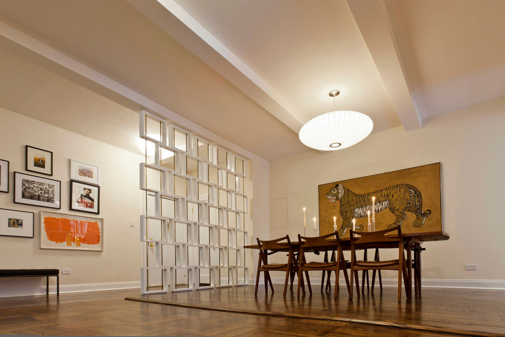 Room Divider Screen Dining Room Modern with Cabinetry Carpet Ceiling Light Contemporary Dining Chair