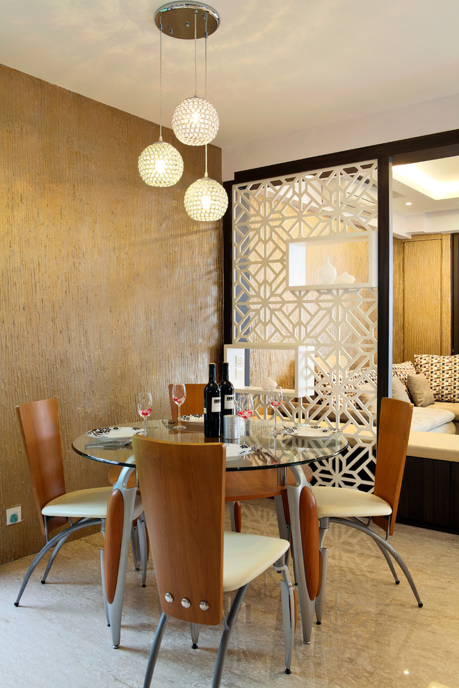 Room Divider Screens Dining Room Eclectic with Ball Pendant Lights Contemporary Dining Chairs Contemporary