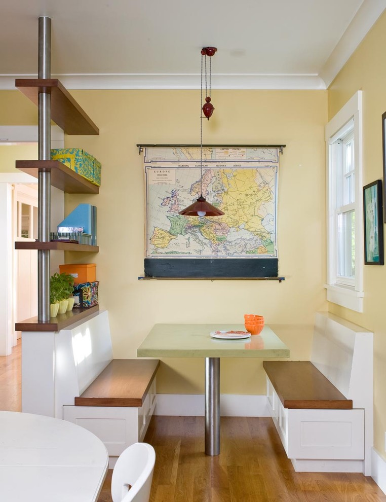 Room Divider Shelves Kitchen Contemporary with Banquette Baseboards Breakfast Nook Built in Furniture