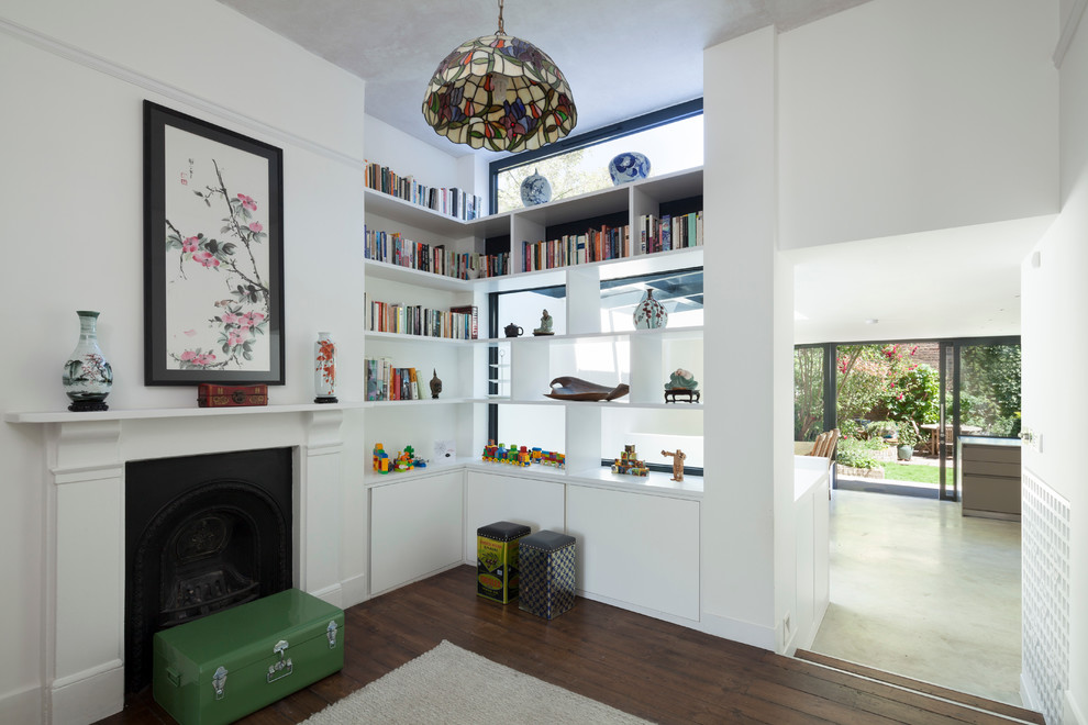 Room Divider Shelves Living Room Eclectic with Asian Painting Asian Vases Books Built In