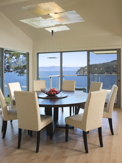 Round Nesting Tables Dining Room Contemporary with Architect and Designer Balcony Chairs Chandelier Corner Dining Room