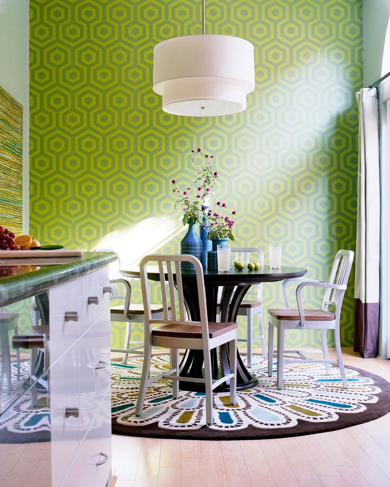 Round Pedestal Dining Table Dining Room Transitional with Bold Breakfast Room Contemporary Dining Room Drum1
