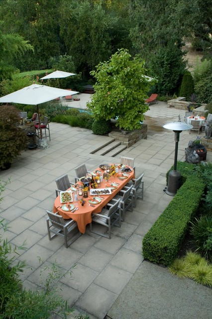 rubber patio pavers Patio Modern with backyard patio concrete fire pit garden furniture hedge outside