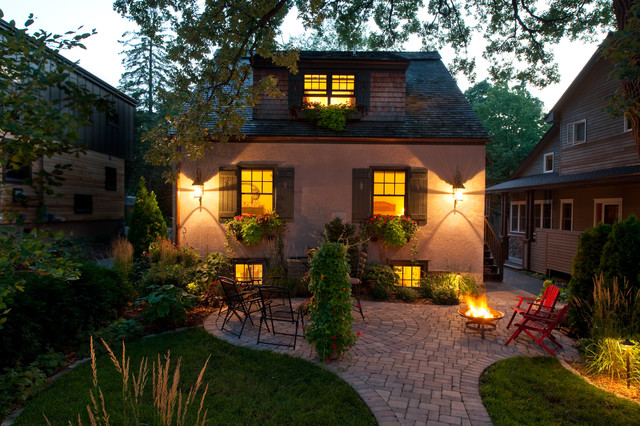 Rubber Patio Pavers Patio Traditional with Dormer Windows Grass Lanterns Lawn Outdoor Firebowl Patio Pavers