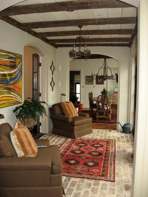 Ruff Hewn Living Room Mediterranean with Antique Beams Hand Hewn Beams Old Beams Ruff Hewn