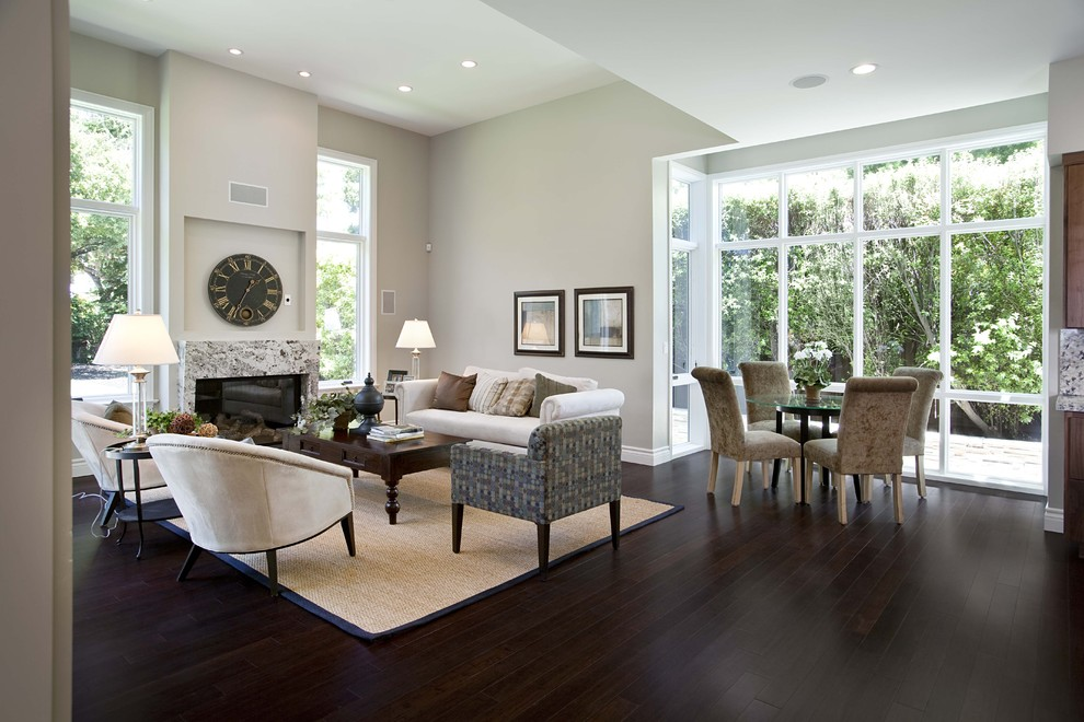 Rug Pads For Hardwood Floors Family Room Contemporary With Area Beige Wall Ceiling Lighting Dark