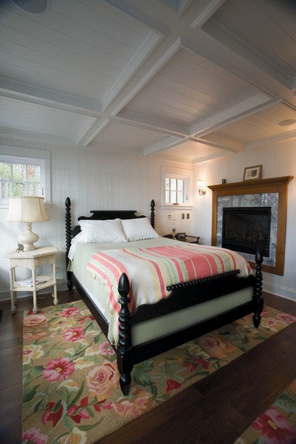 rugs at lowes Bedroom Traditional with bedroom fireplace bright rug coffered ceiling colorful rug cottage