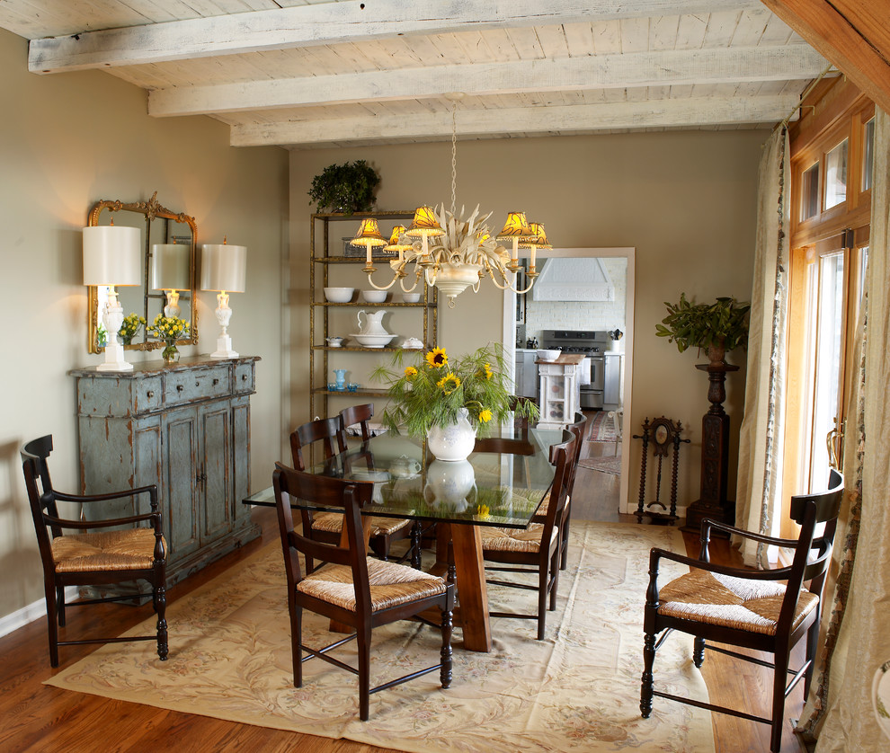 Rustic Sideboard Dining Room Shabby Chic With Area Rug Blue Hutch Cottage Distressed Wood
