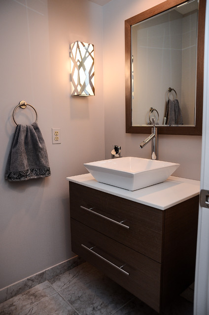 Santec Faucets Powder Room Contemporary with Modernvanitiescomwall Mounted Vanity
