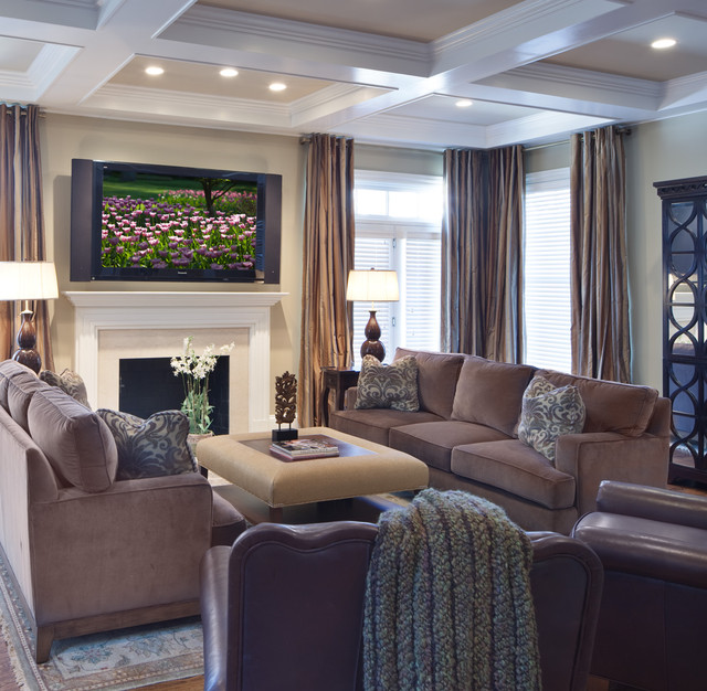 Sarasota Furniture Stores Living Room Contemporary with Area Rug Browm Leather Arm Chairs Coffee Table Coffered