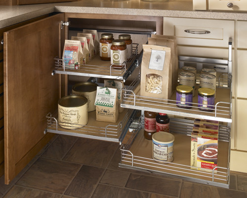 Schuler Cabinetry Kitchen Traditional with Cabinet Storage Kitchen Storage Organized Slide Out