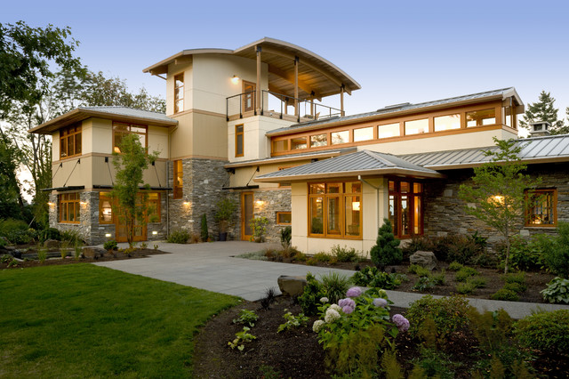 scotts lawn service reviews Exterior Contemporary with Clerestory curved roof entrance entry garden lighting grass Landscape
