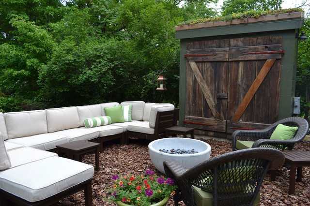 Scottsdale Furniture Stores Patio Eclectic with Barn Doors Bolster Pillow Fire Pit Garden Shed Green