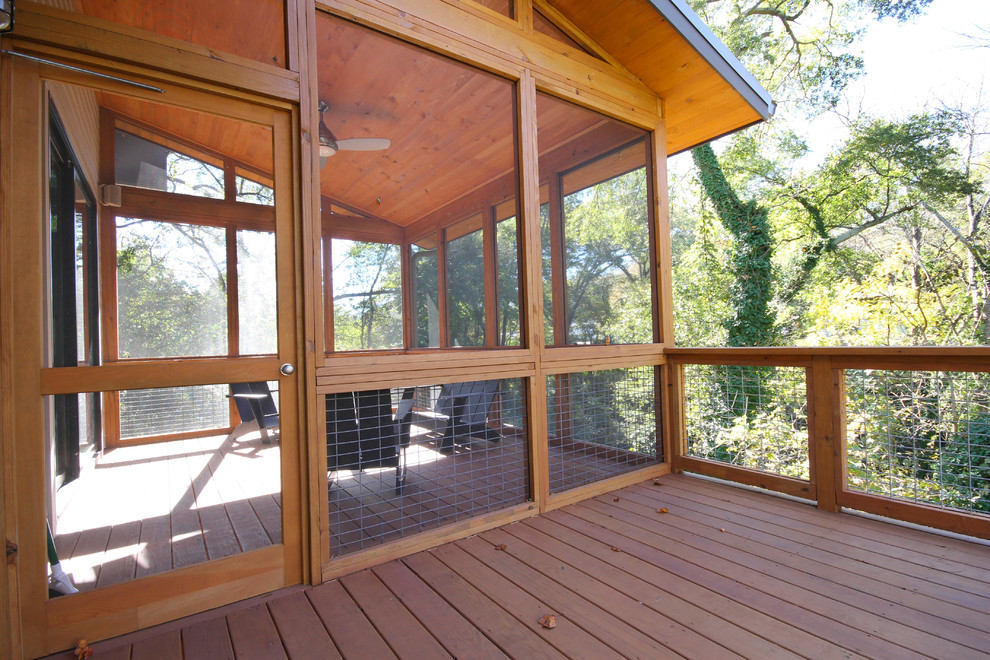 Screened in Porch Designs Deck Contemporary with Adirondack Chairs Ceiling Fan Pine Ceiling Screened