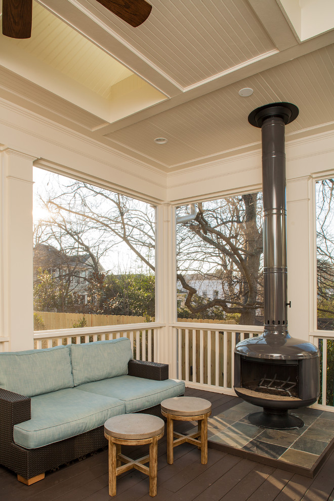 Screened Porch Ideas Porch Craftsman with Back Porch Beadboard Ceiling Ceiling Exterior Fireplace