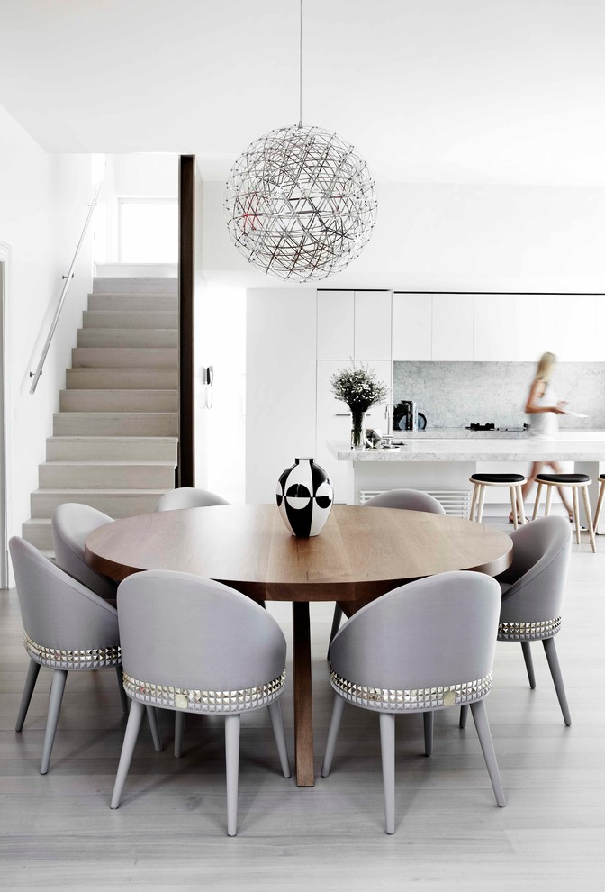 Seagrass Dining Chairs Dining Room Contemporary with Black and White Vase Curved Back Dining