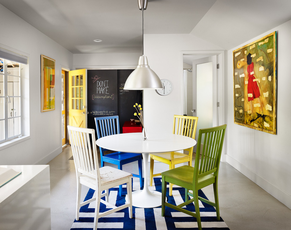 Seagrass Dining Chairs Dining Room Contemporary with Blue and White Rug Blue Area Rug
