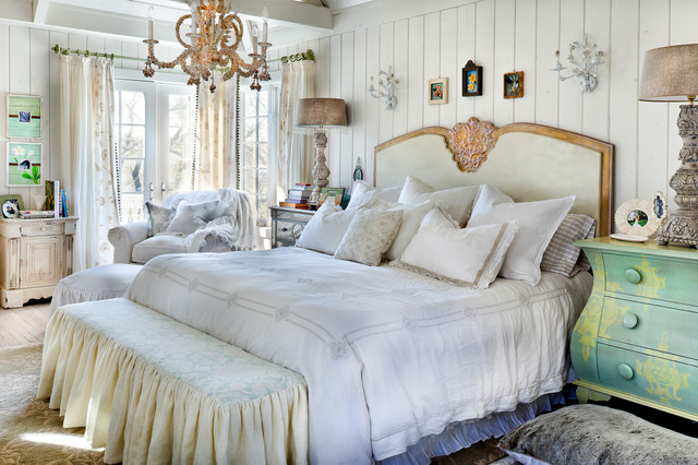 Seashell Bedding Bedroom Shabby Chic with Country Embellished Table Lamp Green Dresser Painted Dresser Paneled