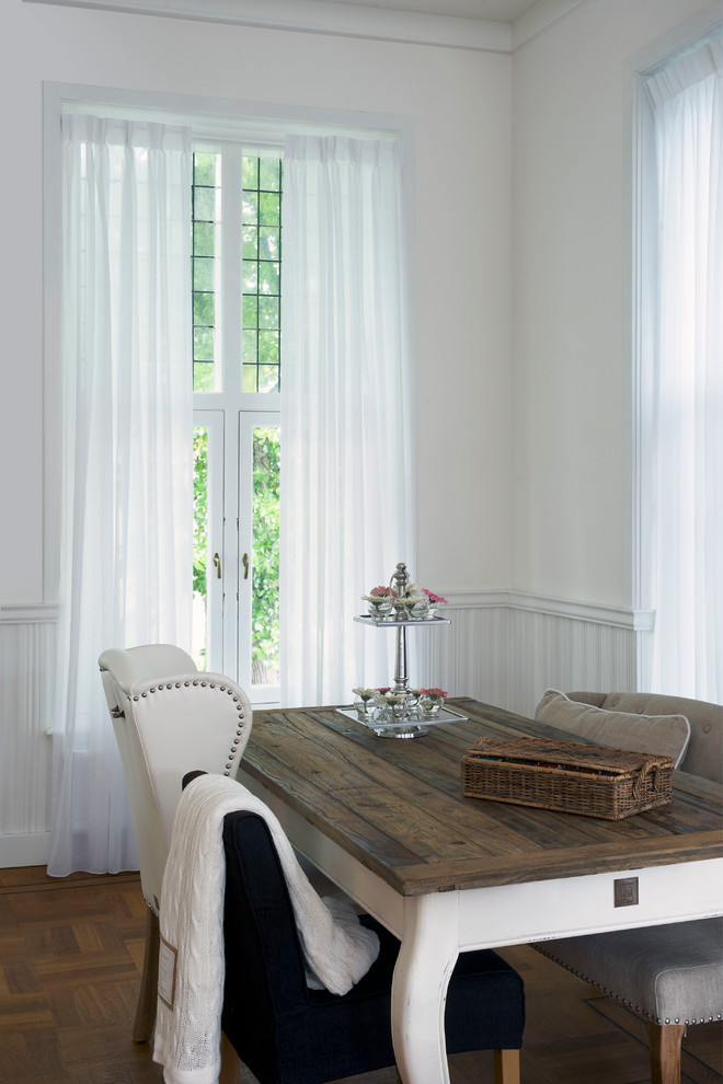Secretary Desk with Hutch Dining Room Rustic with Curtains Drapery Drapes Linen Drapery Pinch Pleat