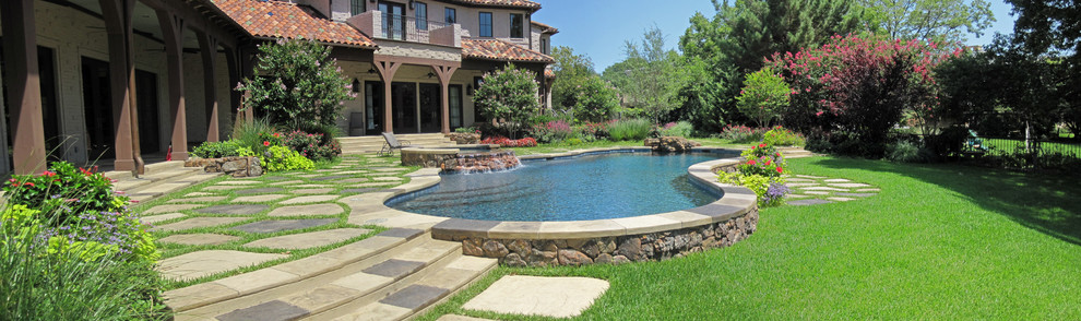 Semi Inground Pools Pool Eclectic with Concrete Covered Porch Crape Myrtles Diving Rock