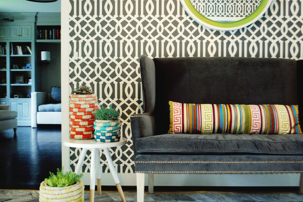 setee Entry Contemporary with anthropologie area rug bold coil pots contemporary
