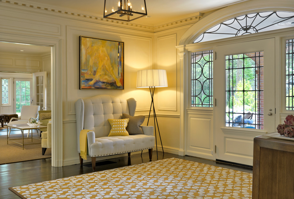 Setee Entry Transitional with Addition Arched Transom Architecture Contemporary Design Dentil