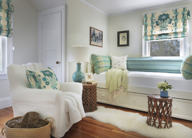 sheepskin rug Bedroom Beach with beach cottage bedroom bed pillows blue pattern blue patterned