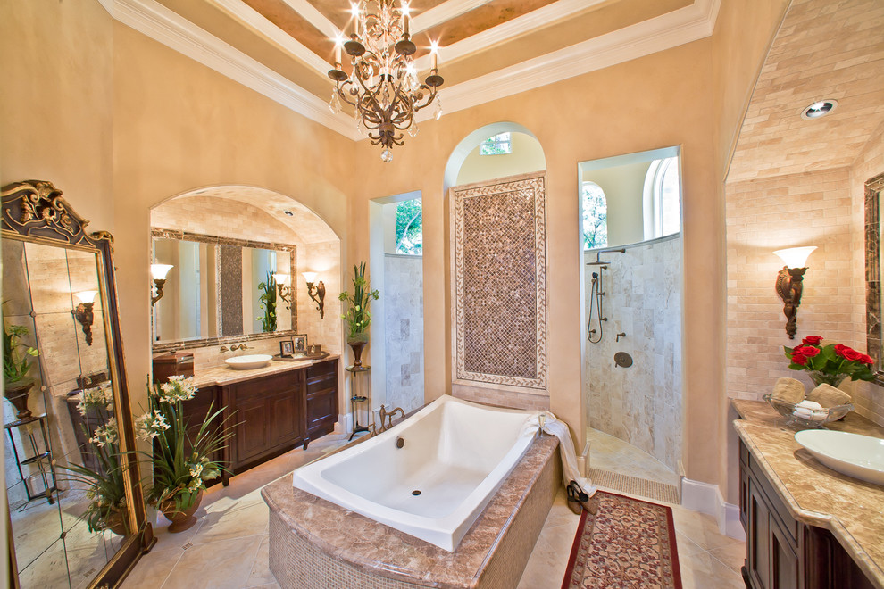 shower doors of houston Bathroom Traditional with bathroom bathtub Cabinetry ceiling detail crown molding