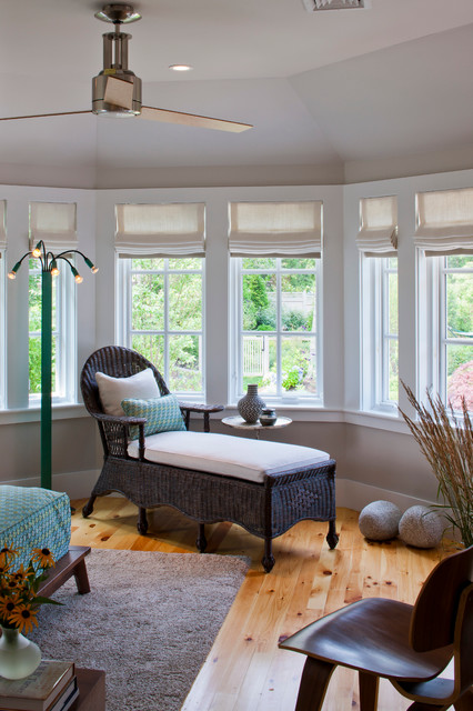 sidelight blinds Bedroom Traditional with accent tables area rug ceiling fan felted wood modern
