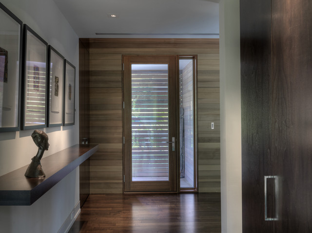 Sidelight Blinds Entry Contemporary with Ceiling Lighting Floating Shelves Front Door Gallery Wall Glass