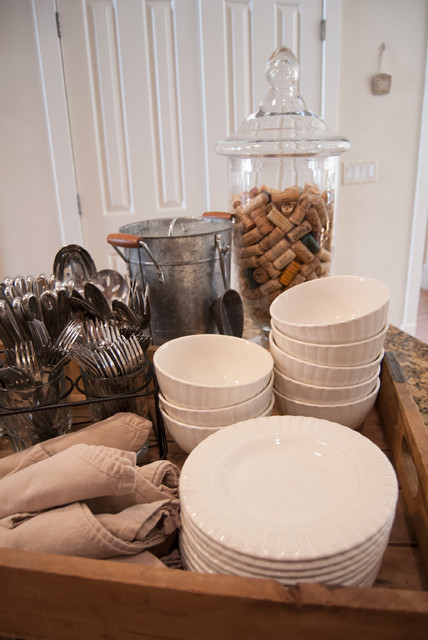 Silverware Holder Kitchen Farmhouse with Country Accents Plate Storage Reclaimed Rustic Tray