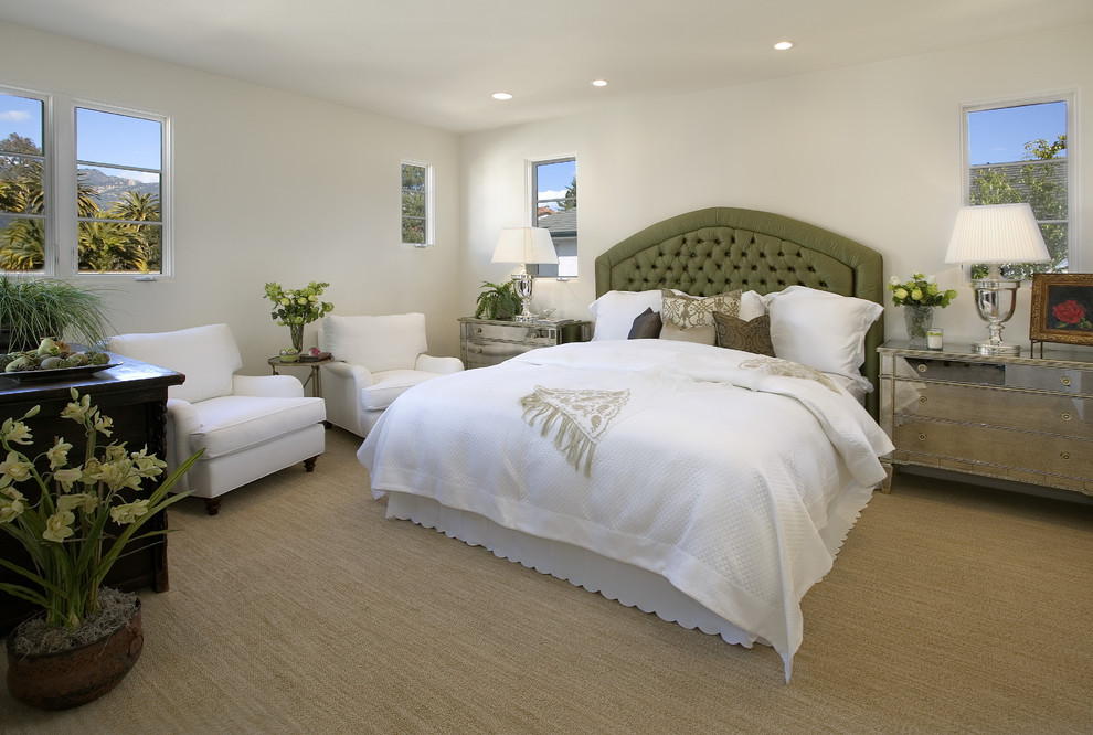 Sisal Carpet Bedroom Mediterranean with Bedside Table Ceiling Lighting Chest of Drawers