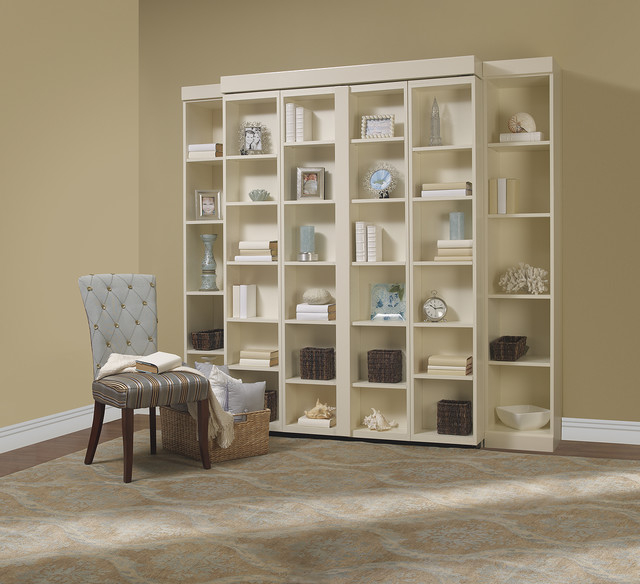 Sleeper Chair Folding Foam Bed Living Room Contemporary with Bookshelf Bed Disappearing Bed Disappearing Beds Hidden Bed Murphy