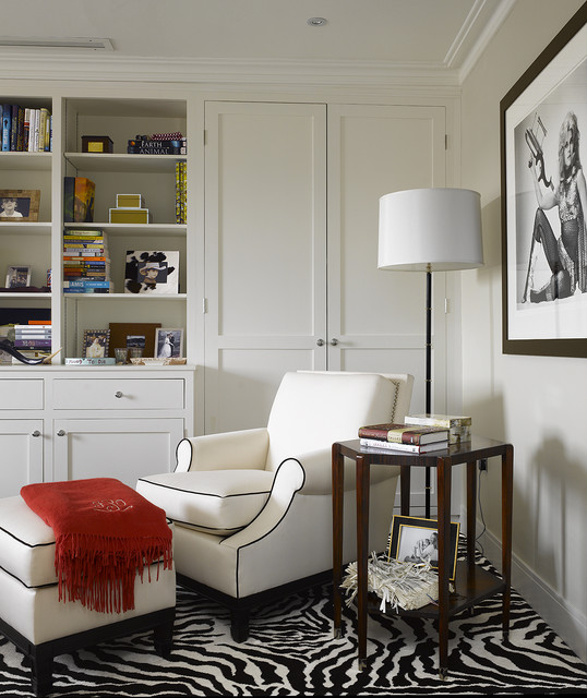 Slim Aarons Prints Living Room Contemporary with Artwork Black and White Photography Bookshelves Built in Storage