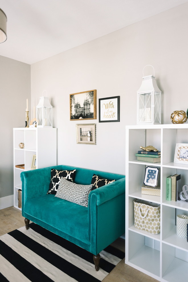 Small Dinette Sets Home Office Transitional with Black and White Blue Sofa Framed Art
