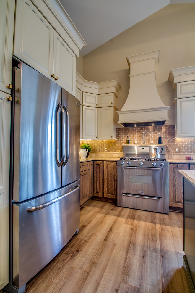 Soapstone Countertops Kitchen Traditional with Tumbled Stone Vaulted Ceilings