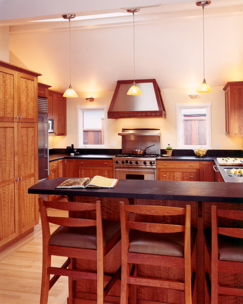 Soapstone Countertops Cost Kitchen Traditional with Arts Crafts Asian Barstools Cabinets Cherry Cottage1
