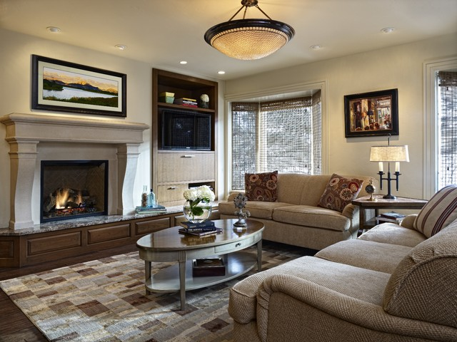 Sofa Mart Denver Family Room Traditional with Bay Windows Built in Cabinets Built in Storage Ceiling Light Coffee
