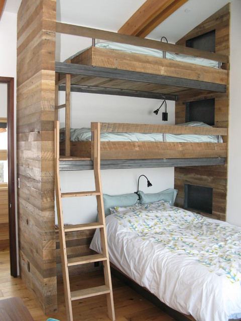 Solid Wood Bunk Beds Kids Rustic with Bunk Beds Ladder Loft Beds Multiple Bunk Beds Reading